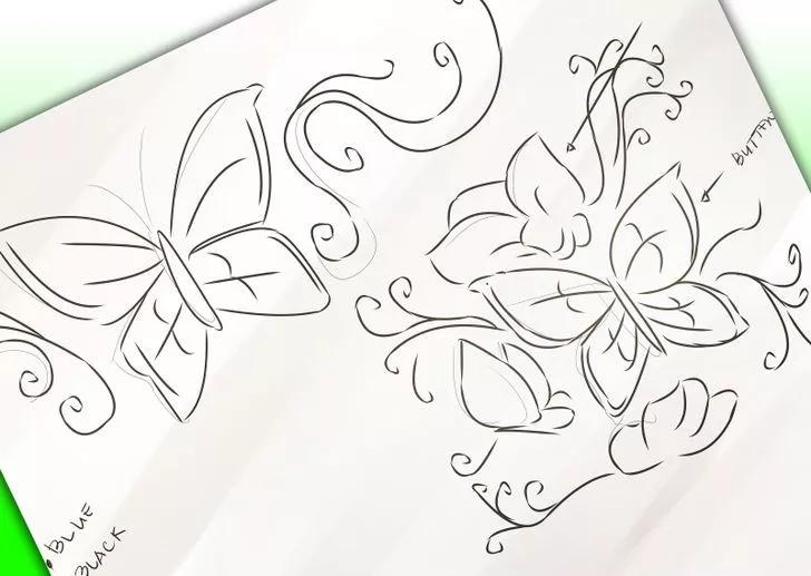 تاتو پروانه تاتو پروانه نحوه انتخاب تاتو پروانه (برای خانم ها) 3 23