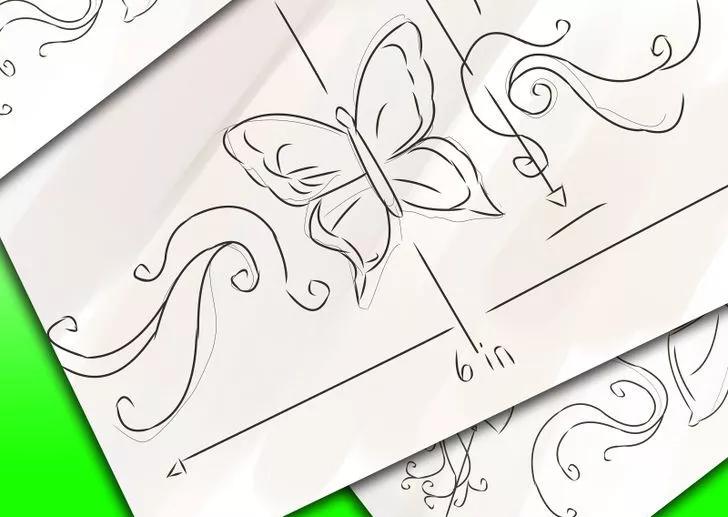 تاتو پروانه تاتو پروانه نحوه انتخاب تاتو پروانه (برای خانم ها) 4 23